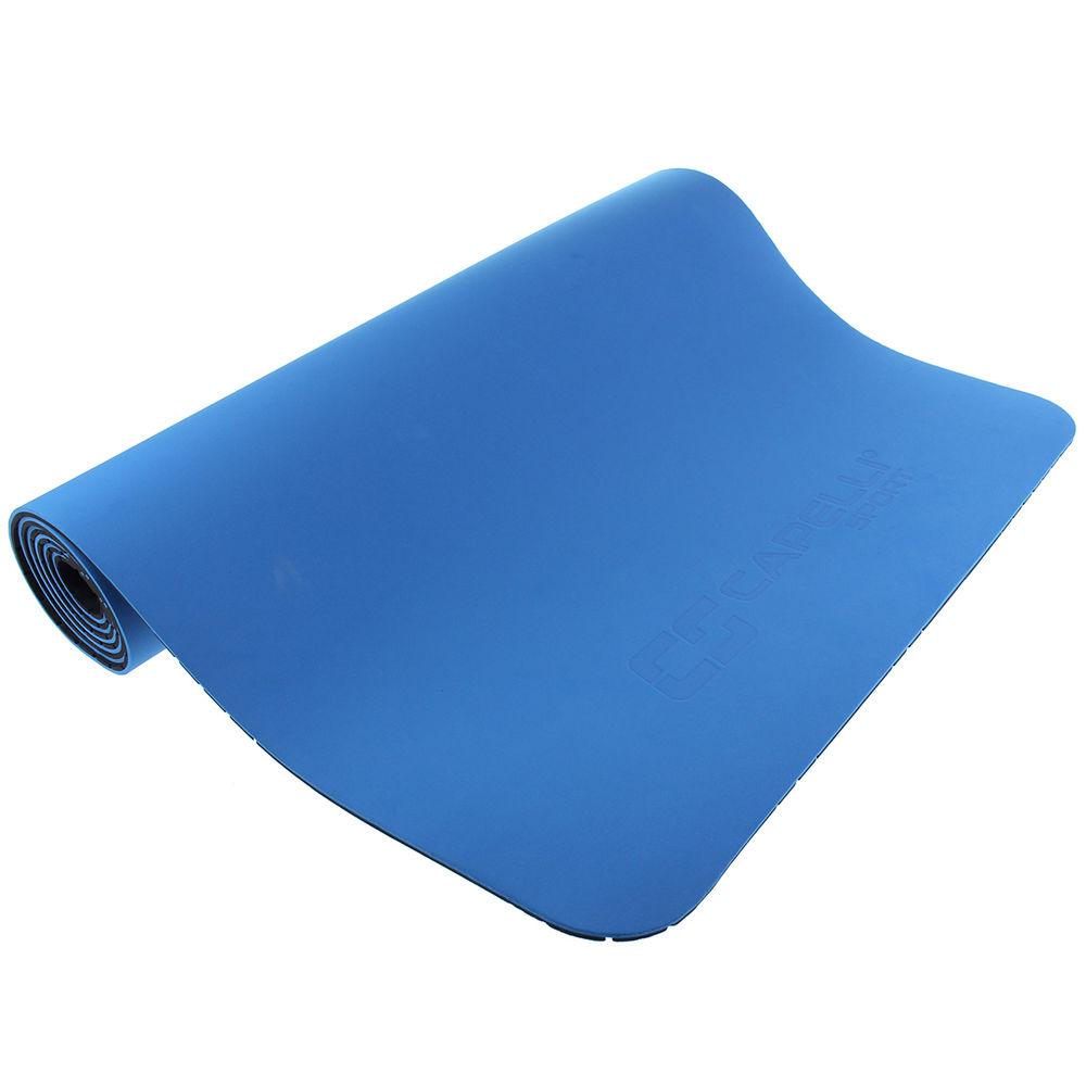 カペリ Capelli ユニセックス ヨガ・ピラティス ヨガマット【Sport 6MM Reversible Yoga Mat】Blue