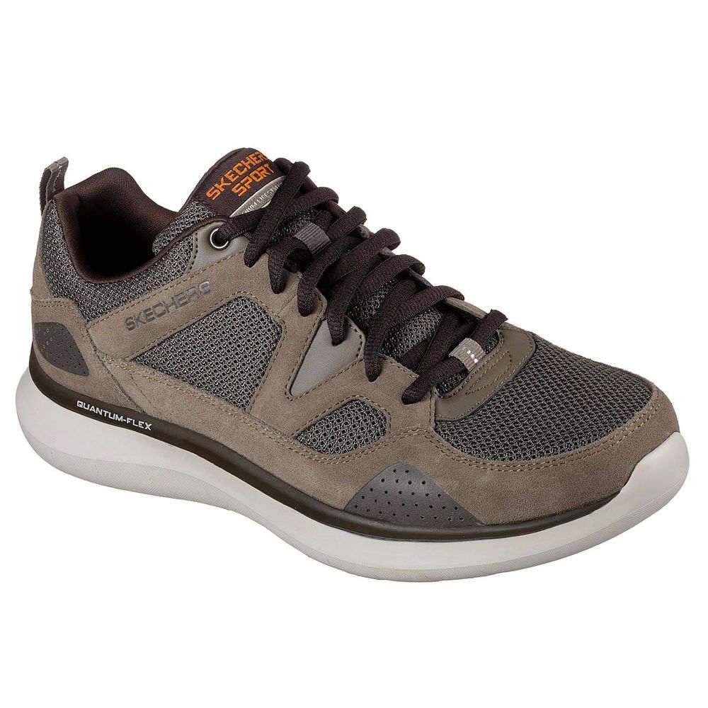 スケッチャーズ Skechers メンズ ランニング・ウォーキング シューズ・靴【Quantum Flex Wide Width Walking Shoe】Brown