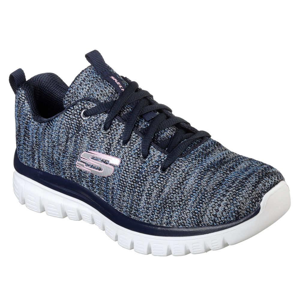 スケッチャーズ Skechers レディース ランニング・ウォーキング シューズ・靴【Graceful Walking Shoe】NAVY/BLUE