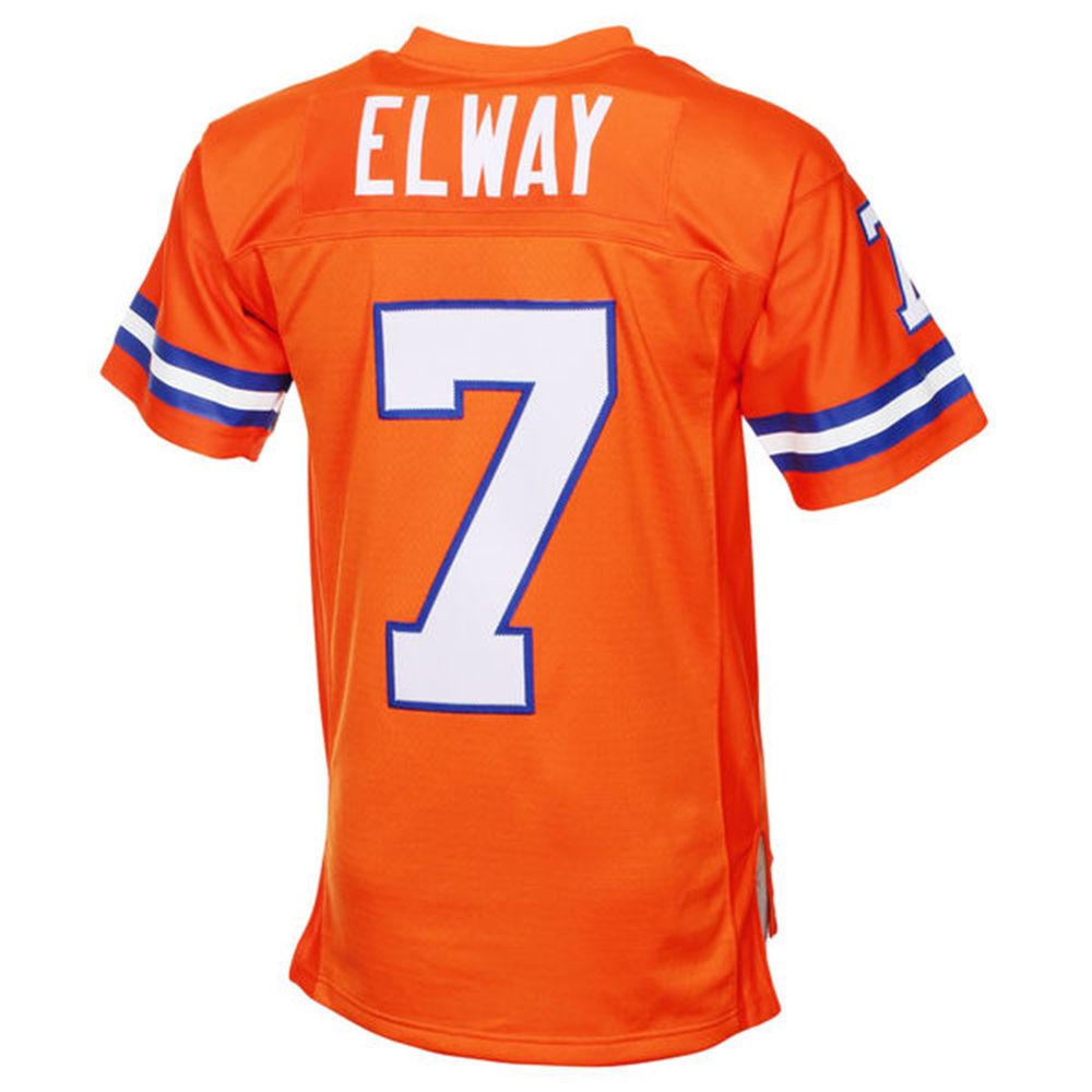 ミッチェル&ネス Mitchell & Ness メンズ トップス【Denver Broncos Adult John Elway Retired Player Vintage Replica Jersey】Orange