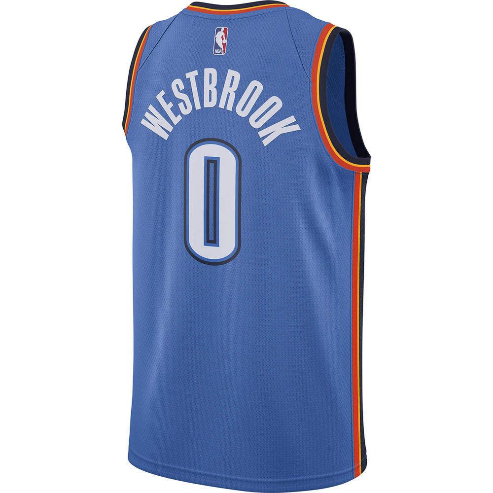 ナイキ Nike メンズ トップス【Oklahoma City Thunder Adult Russell Westbrook Swingman Jersey】Blue