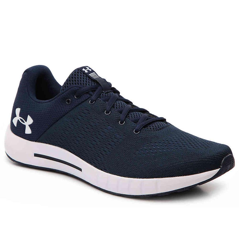アンダーアーマー Under Armour メンズ ランニング・ウォーキング シューズ・靴【Micro G Pursuit Running Shoe】Navy/White