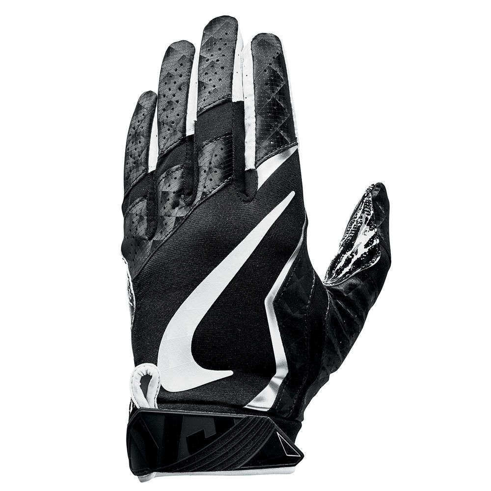 ナイキ Nike ユニセックス アメリカンフットボール グローブ【Vapor Jet 4.0 Adult Football Gloves】Black/White