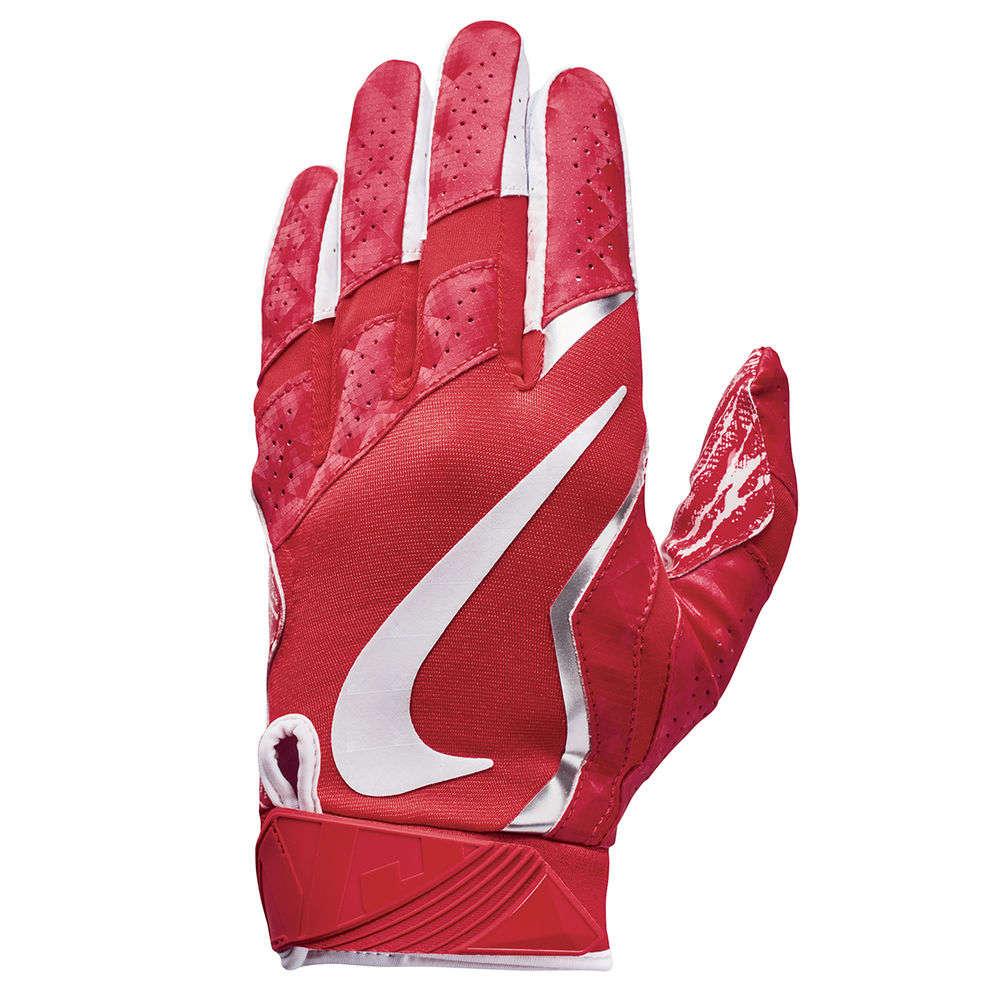 ナイキ Nike ユニセックス アメリカンフットボール グローブ【Vapor Jet Adult Football Gloves】Red/White