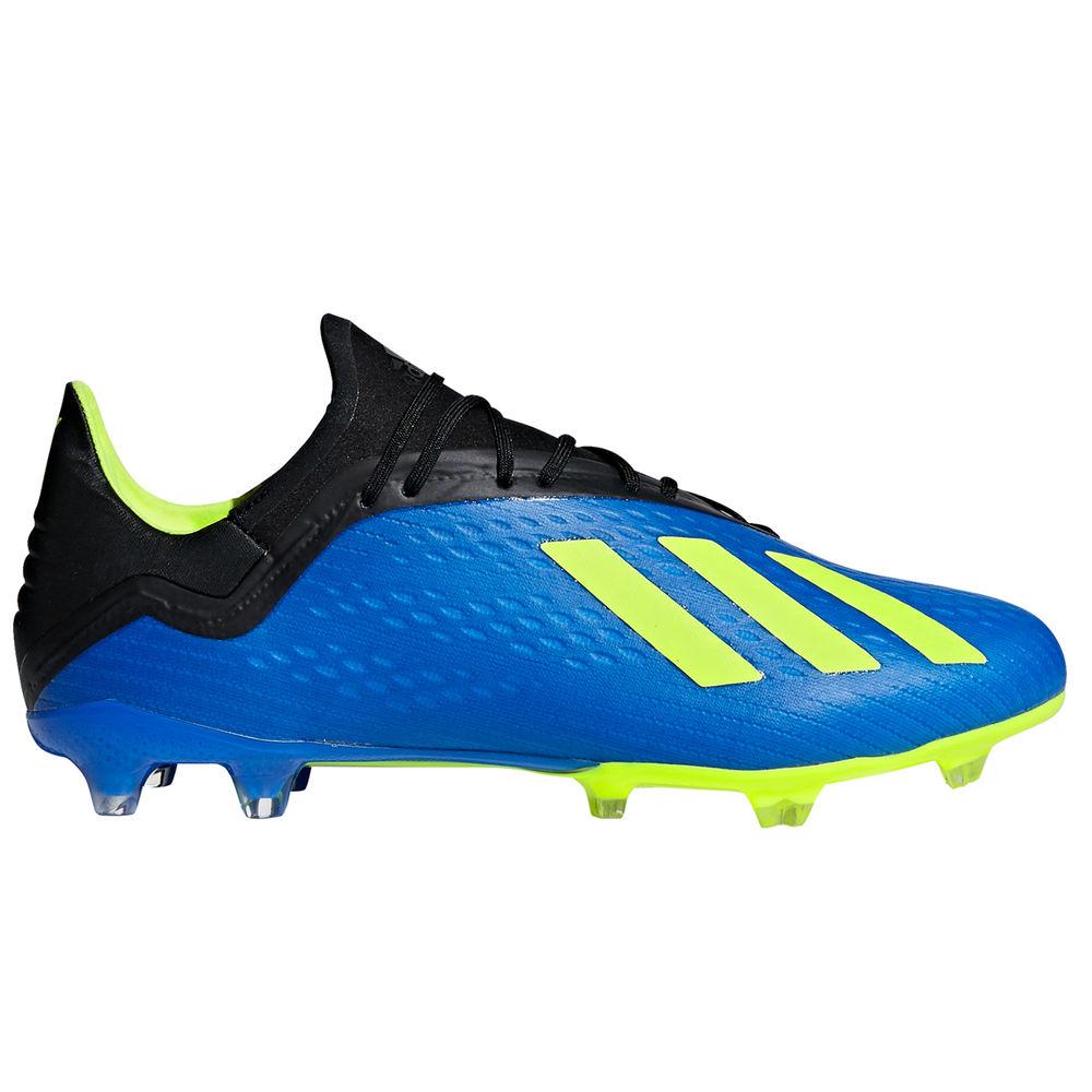 アディダス adidas メンズ サッカー シューズ・靴【X 18.2 Firm Ground Soccer Cleat】Blue/Lime