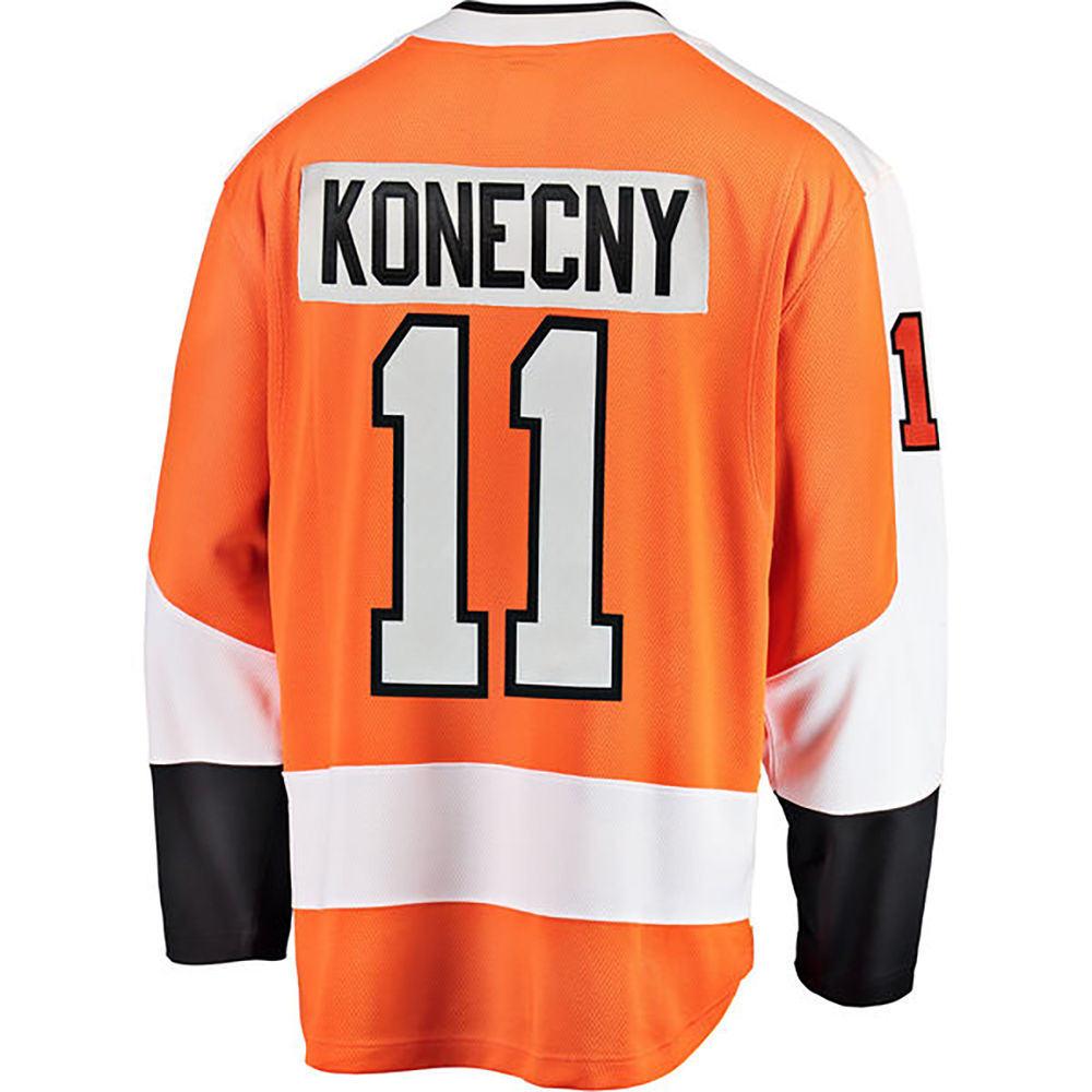 ファナティクス Fanatics メンズ トップス【Philadelphia Flyers Adult Travis Konecny Player Jersey】Orange