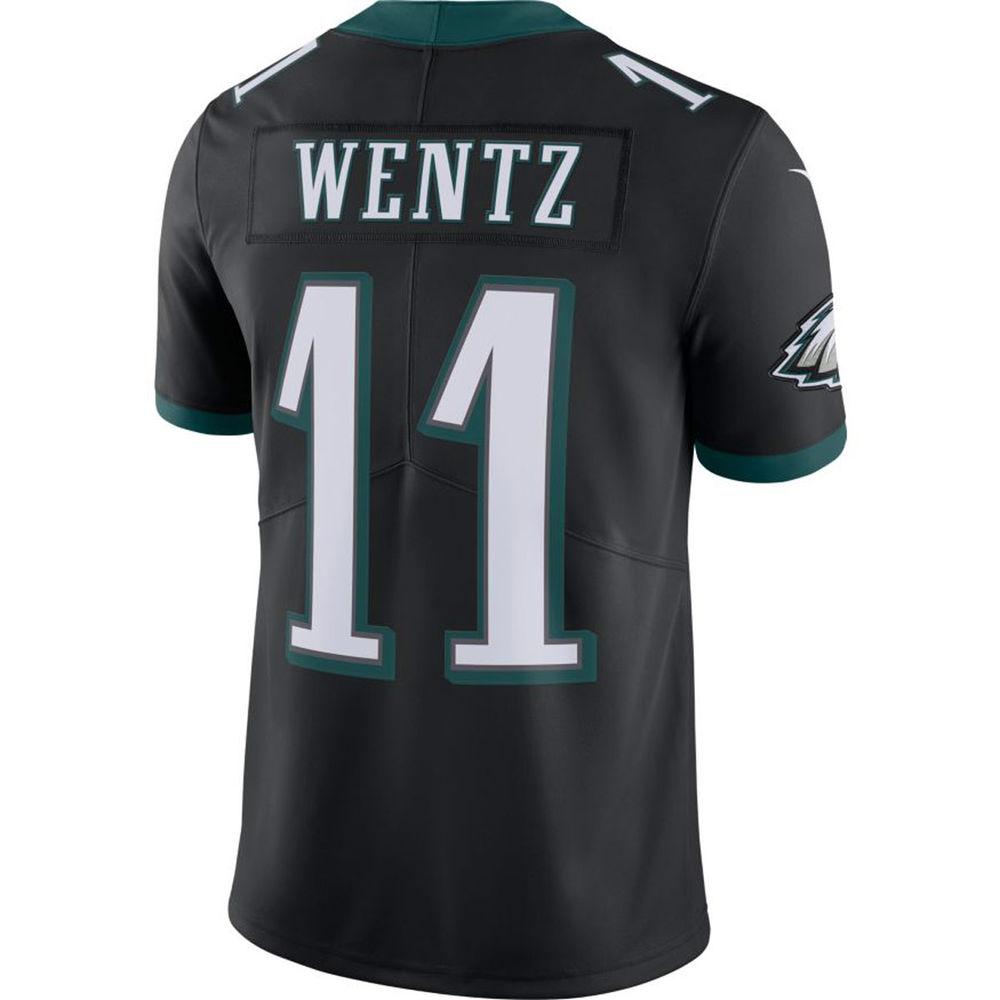 ナイキ Nike メンズ トップス【Philadelphia Eagles Adult Carson Wentz Limited Jersey】Black