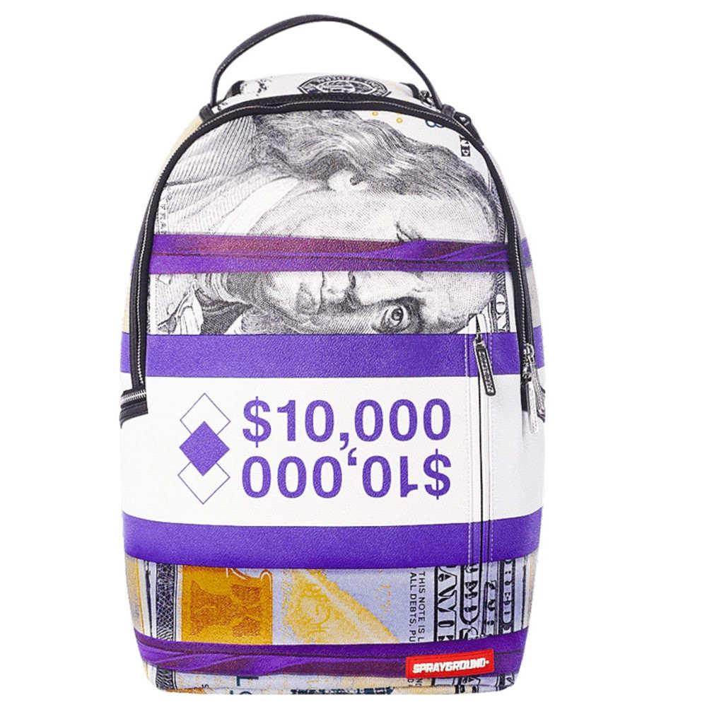 スプレイグラウンド Sprayground ユニセックス バッグ バックパック・リュック【Money Stacks Backpack】Purple