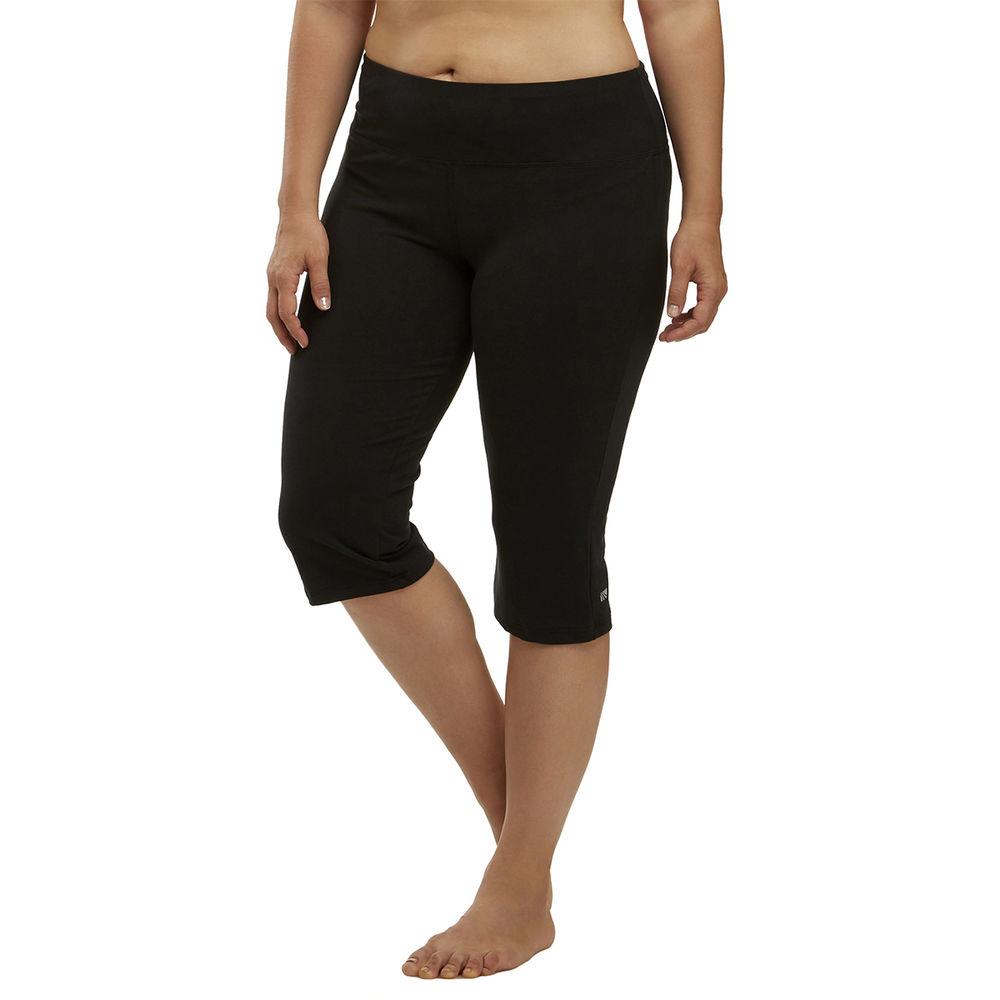 マリカ Marika Curves レディース フィットネス・トレーニング ボトムス・パンツ【High Rise Tummy Control Plus Size Capri】Black