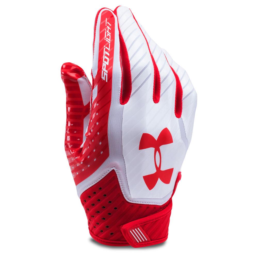 アンダーアーマー Under Armour ユニセックス アメリカンフットボール グローブ【Adult Spotlight Football Gloves】Red/White