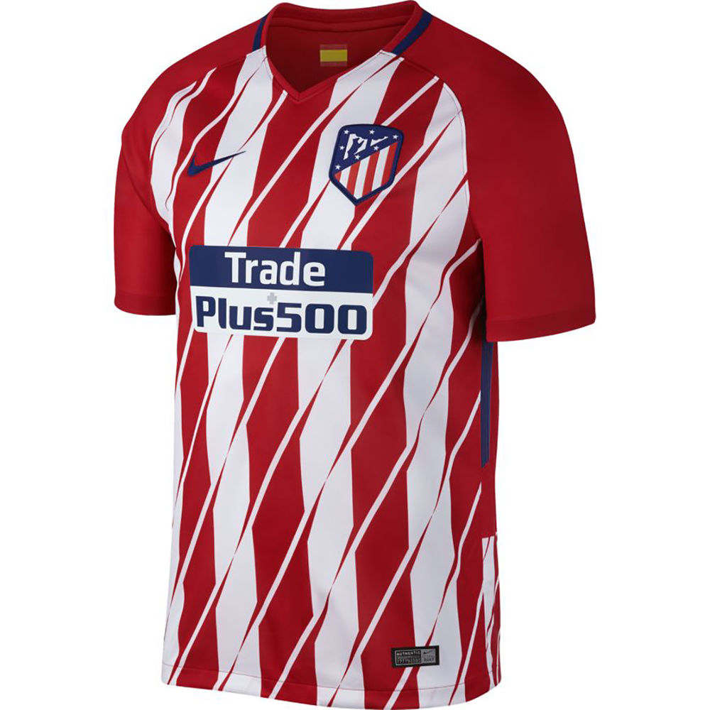 ナイキ Nike メンズ サッカー トップス【Atletico de Madrid Adult 2017-2018 Home Stadium Jersey】Red