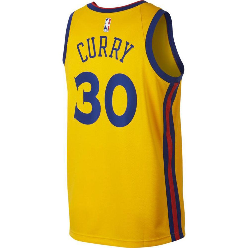 ナイキ Nike メンズ トップス【Golden State Warriors Adult Stephen Curry City Edition Swingman Jersey】Yellow