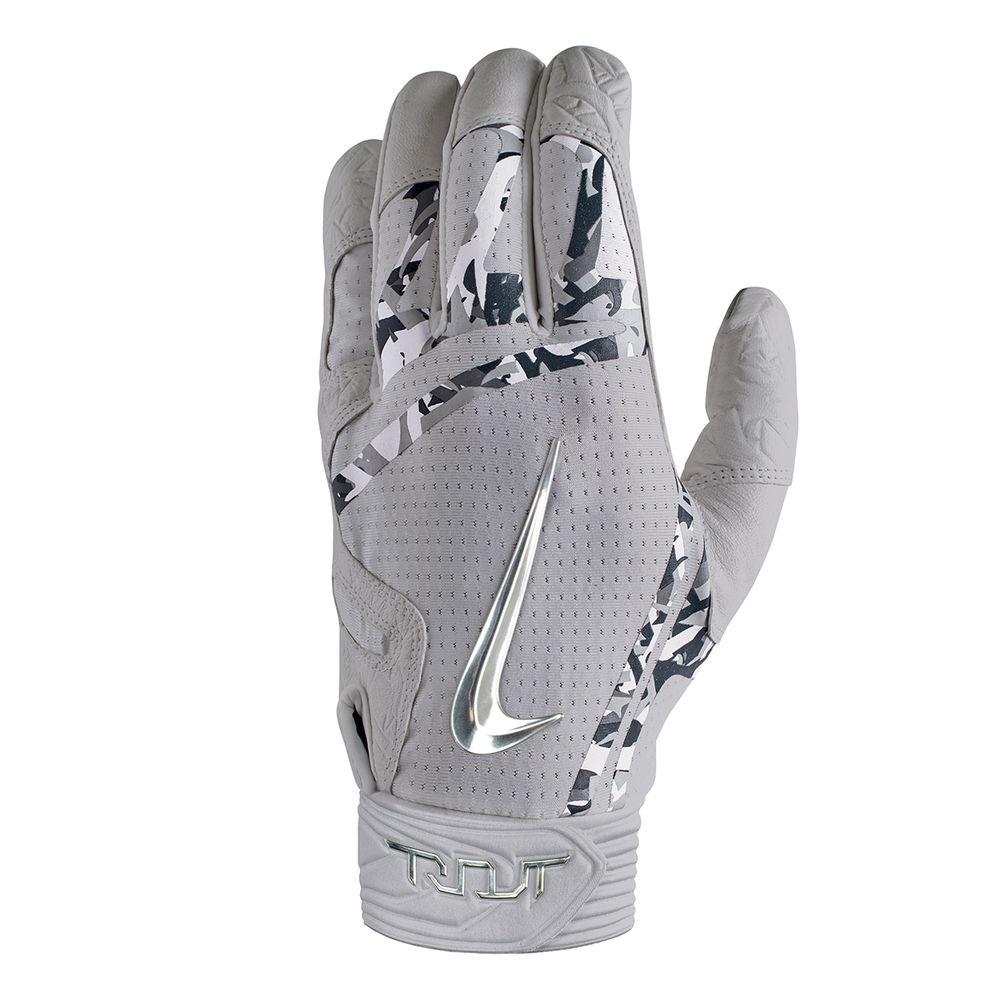 ユニセックス Batting グローブ【Trout 野球 ナイキ Glove】Grey/Charcoal Adult Elite Nike