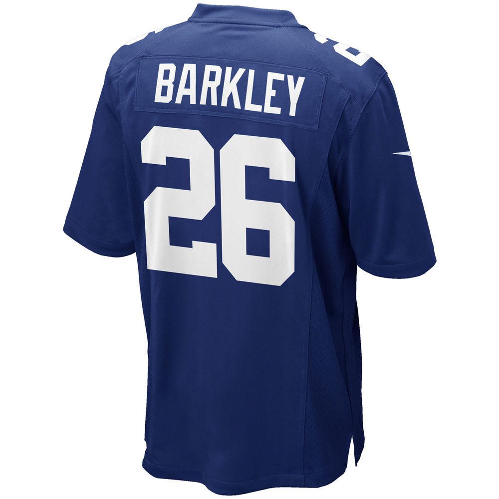 ナイキ Nike メンズ トップス【New York Giants Adult Saquon Barkley Game Jersey】Royal