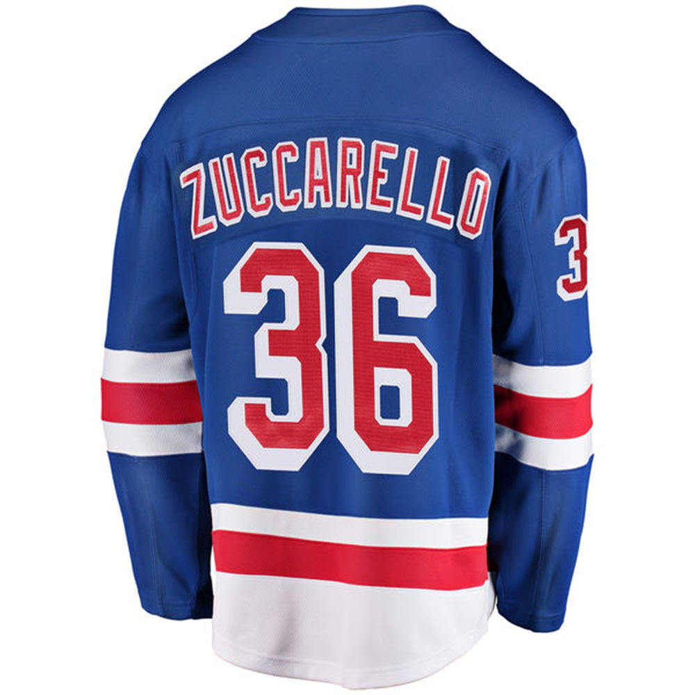 ファナティクス Fanatics メンズ トップス【New York Rangers Adult Mats Zuccarello Player Jersey】Royal