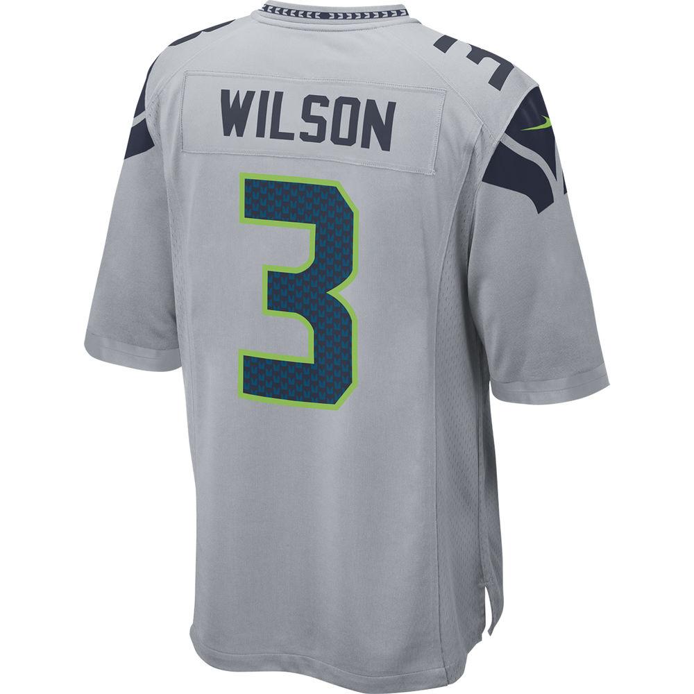ナイキ Nike メンズ トップス【Seattle Seahawks Adult Russell Wilson Game Jersey】Grey