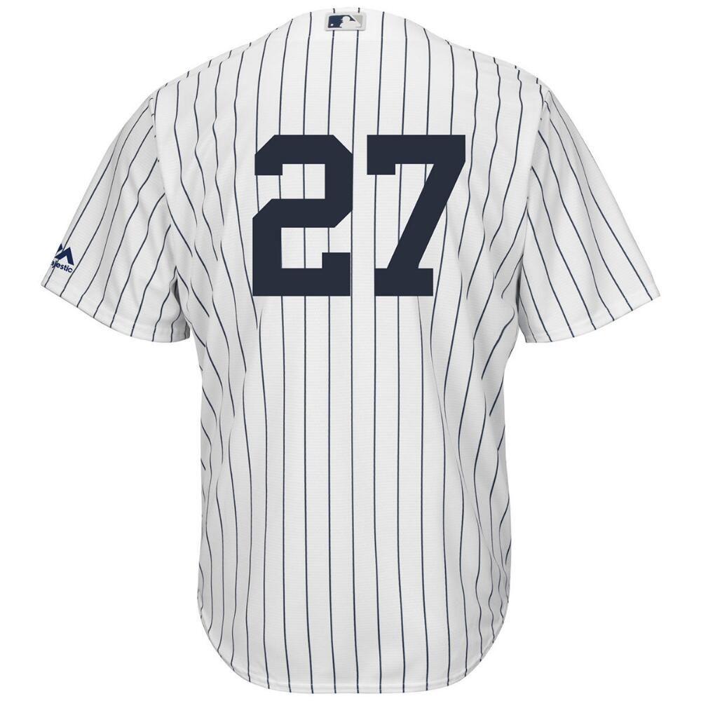 マジェスティック Majestic メンズ トップス【New York Yankees Adult Giancarlo Stanton Replica Jersey】White