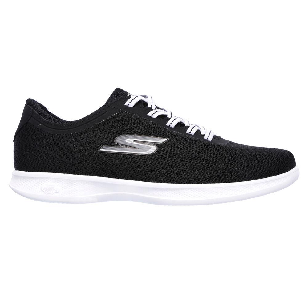 スケッチャーズ Skechers レディース ランニング・ウォーキング シューズ・靴【GOstep Lite Walking Shoe】Black/White