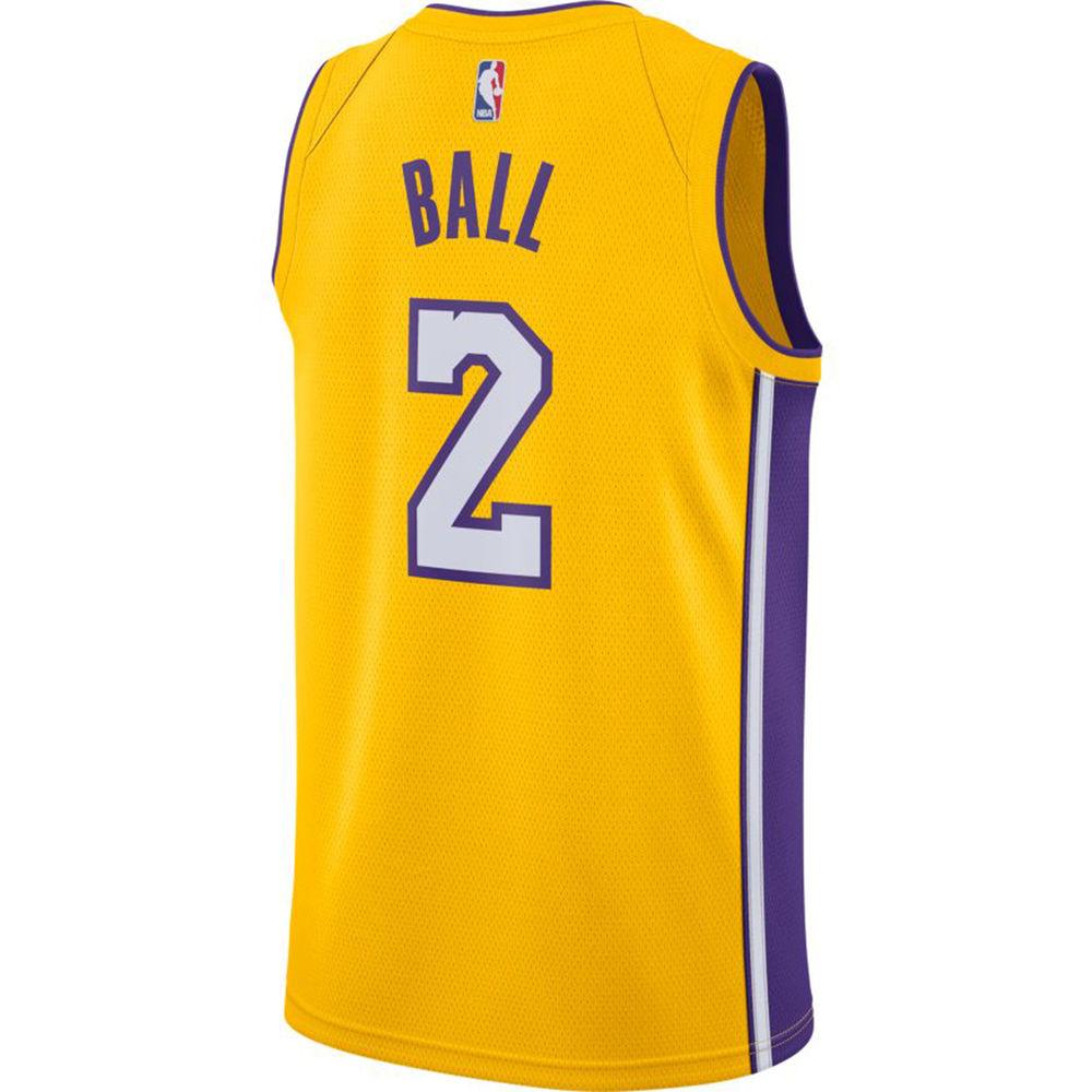ナイキ Nike メンズ トップス【Los Angeles Lakers Adult Lonzo Ball Swingman Jersey】Gold
