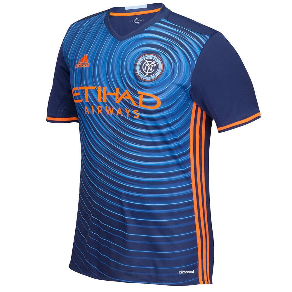 アディダス adidas メンズ サッカー トップス【New York City Football Club Adult Replica Short Sleeve Away Jersey】Navy