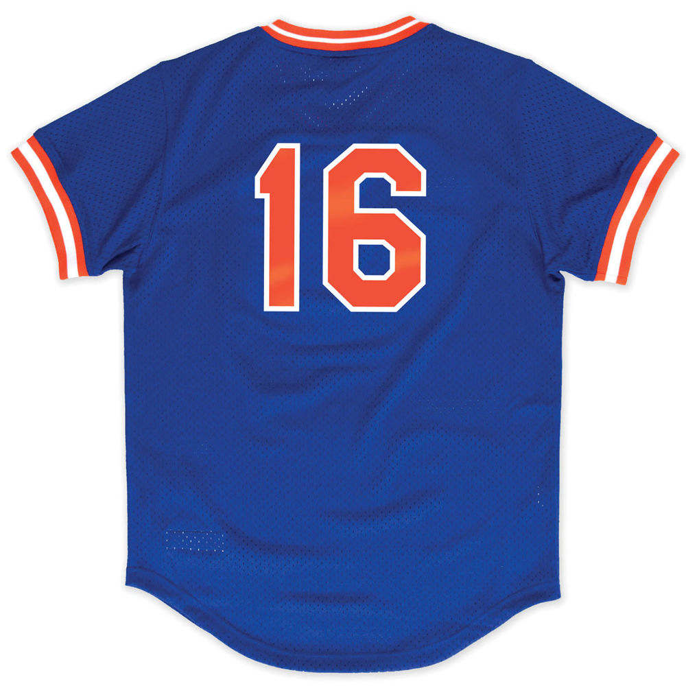 ミッチェル&ネス Mitchell & Ness メンズ トップス【New York Mets Adult Dwight Gooden V Neck Mesh Jersey】Royal