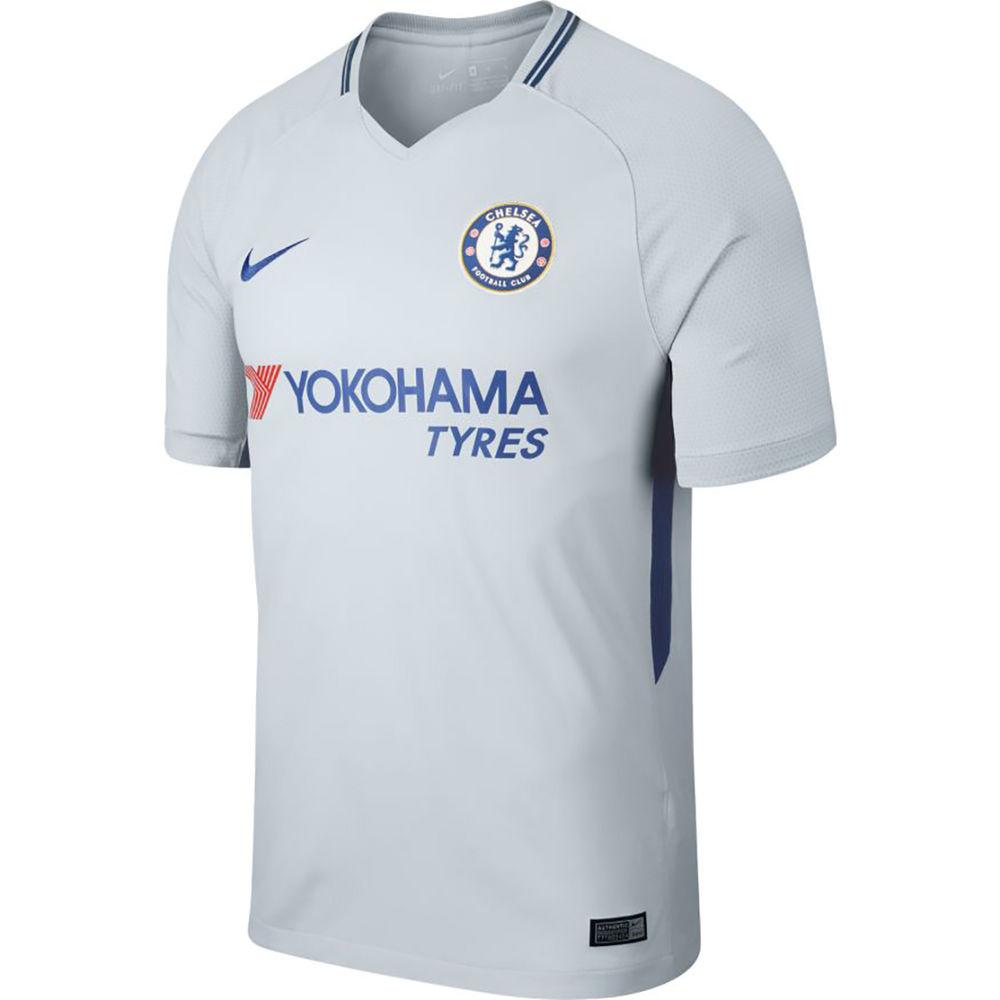 ナイキ Nike メンズ サッカー トップス【Chelsea Adult 2017-2018 Away Stadium Jersey】Silver