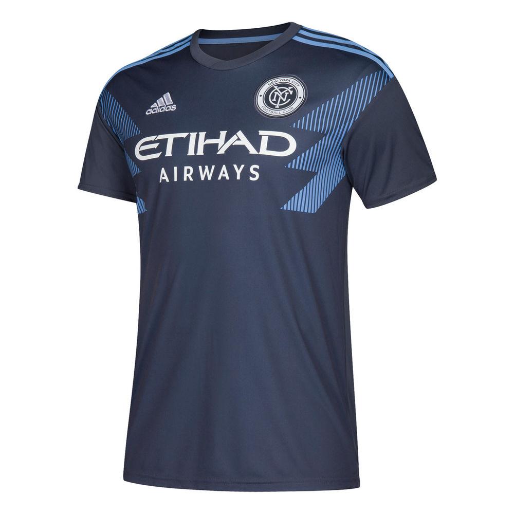 アディダス adidas メンズ トップス Tシャツ【New York City Football Club 2018 Replica T-Shirt】Grey
