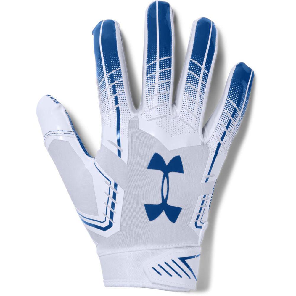 アンダーアーマー Under Armour メンズ アメリカンフットボール グローブ【F6 Football Glove】White/Royal