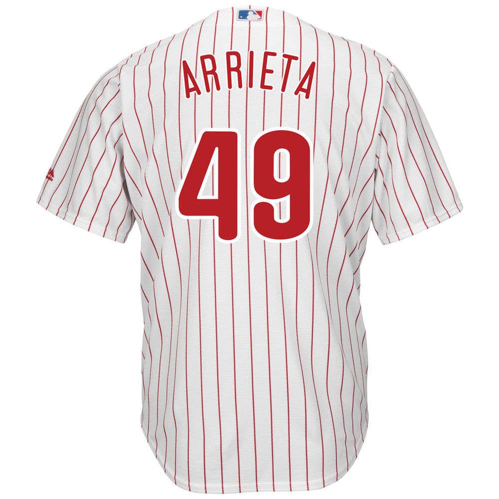 マジェスティック Majestic メンズ トップス【Philadelphia Phillies Adult Jake Arrieta Jersey】White