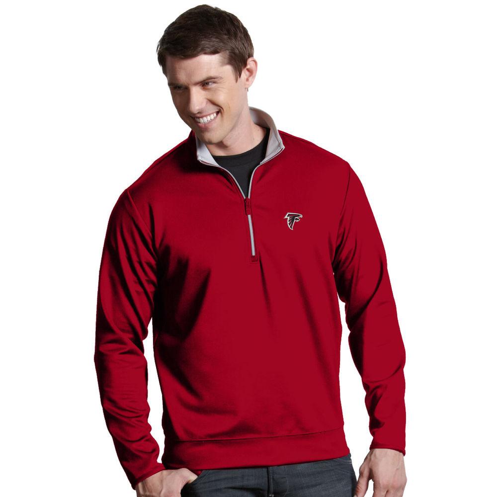 アンティグア Antigua メンズ トップス【Atlanta Falcons Leader Quarter Zip Pullover】Dark Red