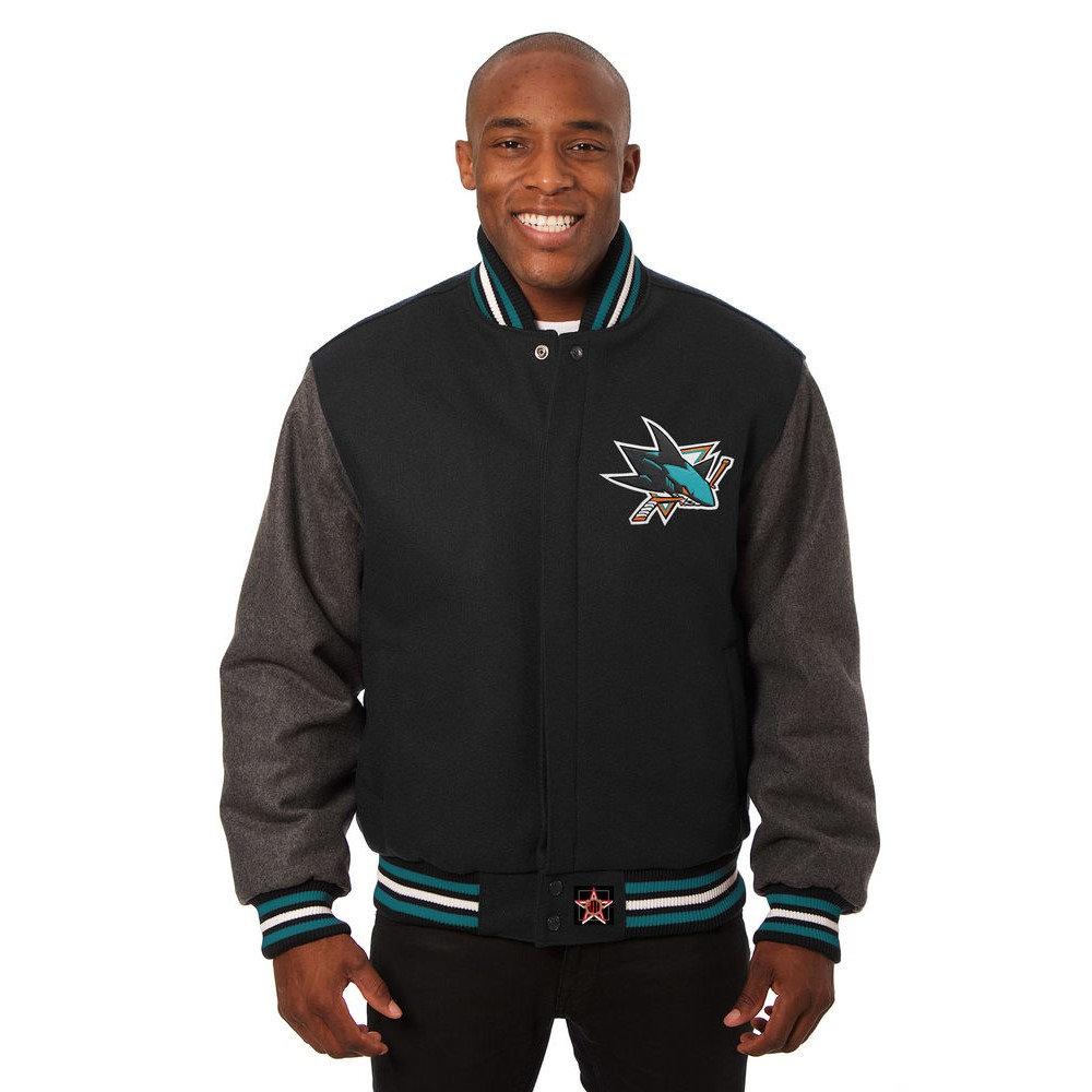 JH デザイン JH Design メンズ アウター ジャケット【San Jose Sharks Adult Wool Jacket】Black/Grey