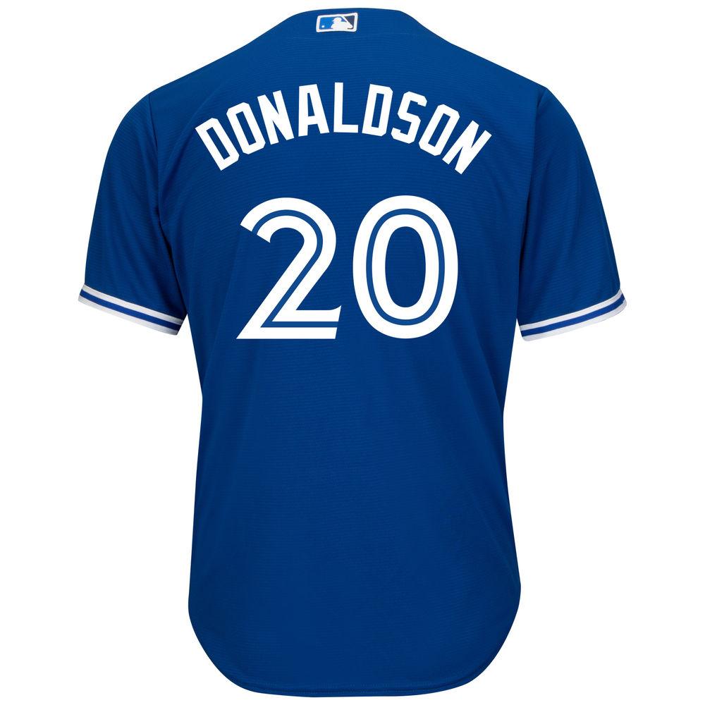 マジェスティック Majestic メンズ トップス【Toronto Blue Jays Big Josh Donaldson Cool Base Replica Jersey (Big & Tall)】Royal