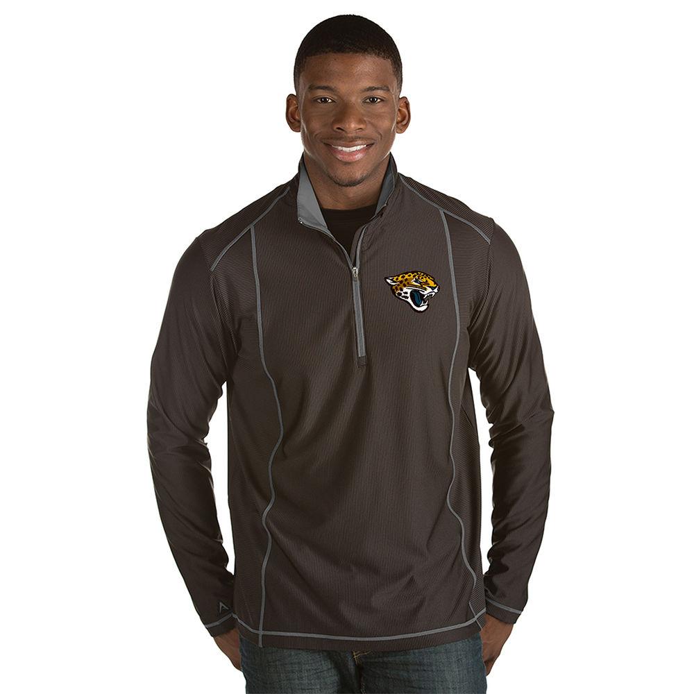 アンティグア Antigua メンズ トップス【Jacksonville Jaguars Adult Tempo Quarter Zip Pullover】Grey