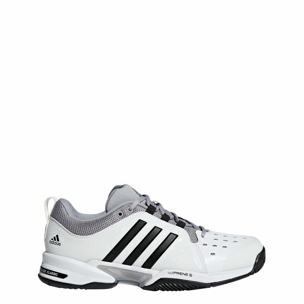 アディダス adidas メンズ テニス シューズ・靴【Barricade Classic Wide 4E Tennis Shoes】White/Black