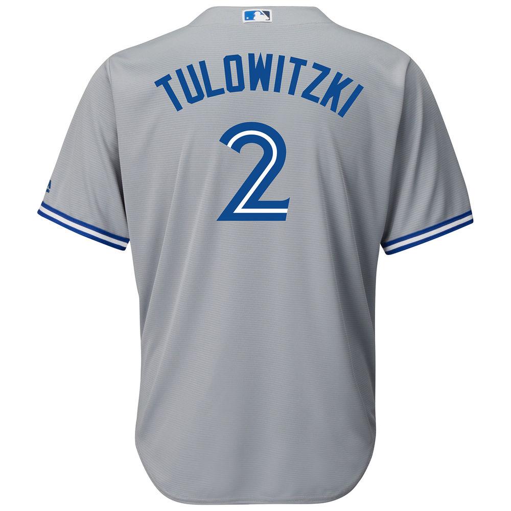 マジェスティック Majestic メンズ トップス【Toronto Blue Jays Adult Troy Tulowitzki Road Jersey】