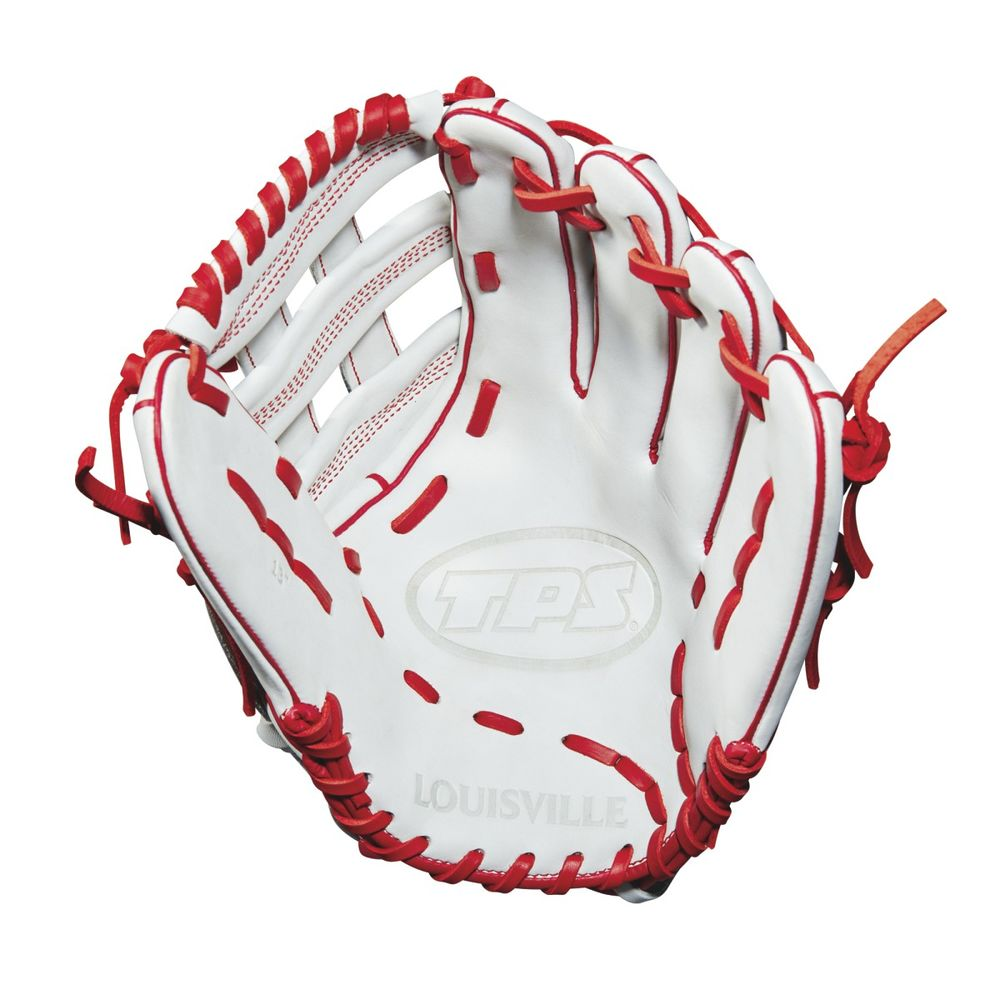 ルイスビルスラッガー Louisville Slugger ユニセックス 野球 グローブ【TPS 13 Inch Right Hand Throw Slow Pitch Softball Glove】White/Red