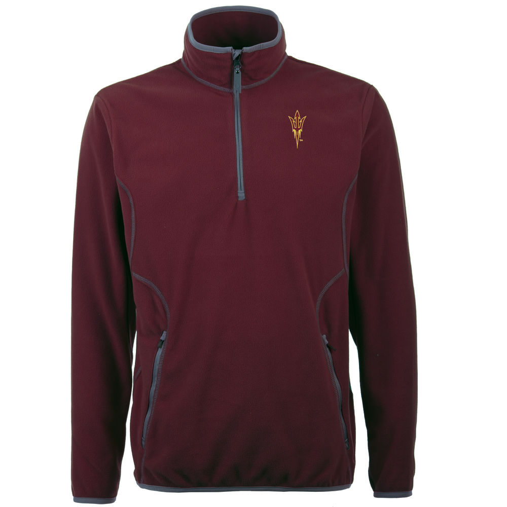 アンティグア Antigua メンズ トップス フリース【Arizona State Sun Devils Ice Quarter Zip Polar Fleece】Maroon