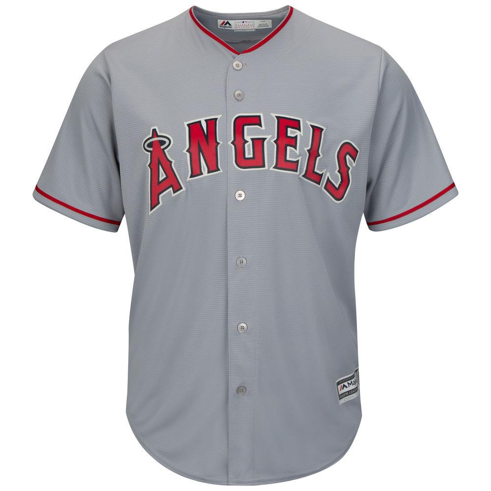 マジェスティック Majestic メンズ トップス【Los Angeles Angels of Anaheim Adult Cool Base Replica Jersey】Grey