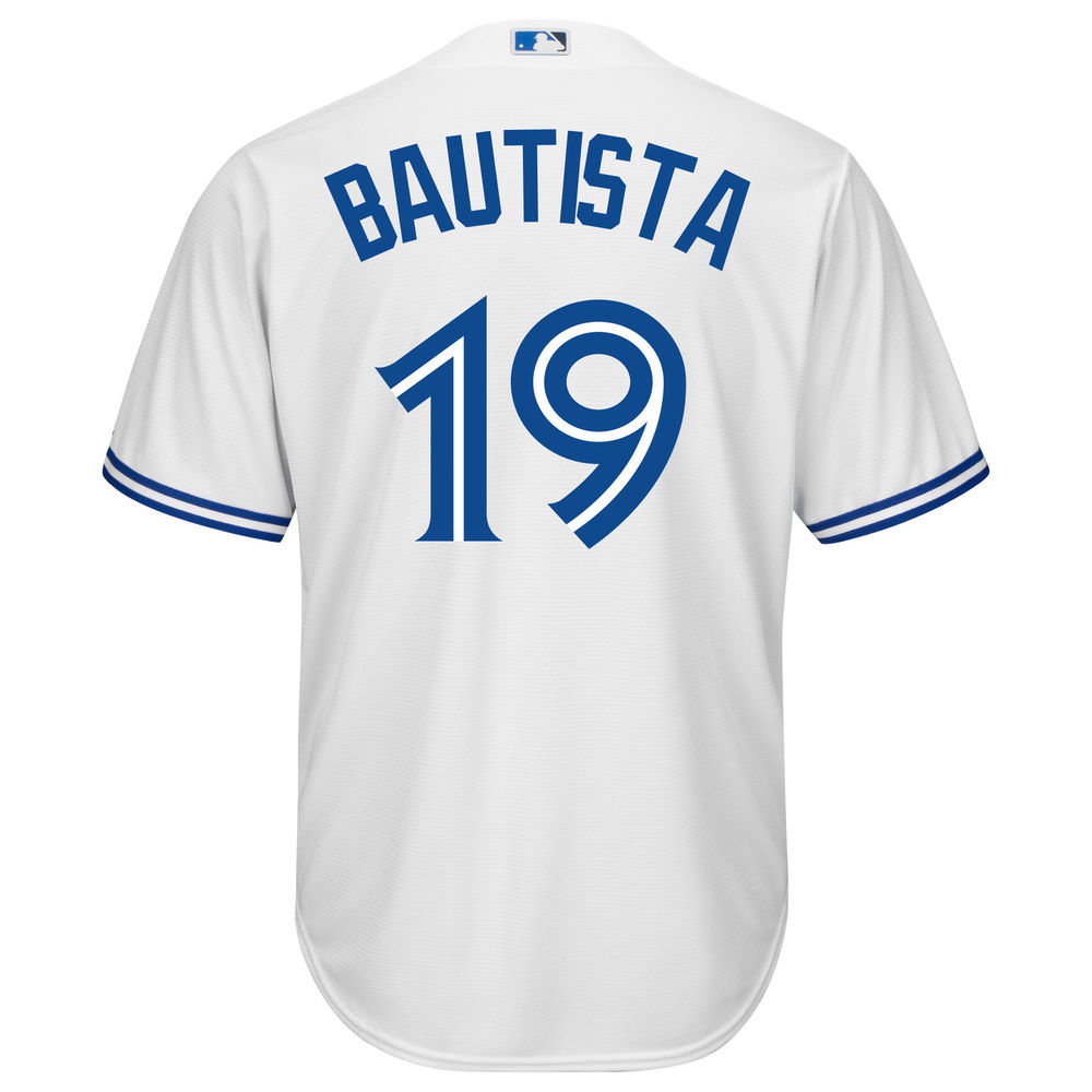マジェスティック Majestic メンズ トップス【Toronto Blue Jays Jose Bautista Adult Cool Base Replica Jersey】White