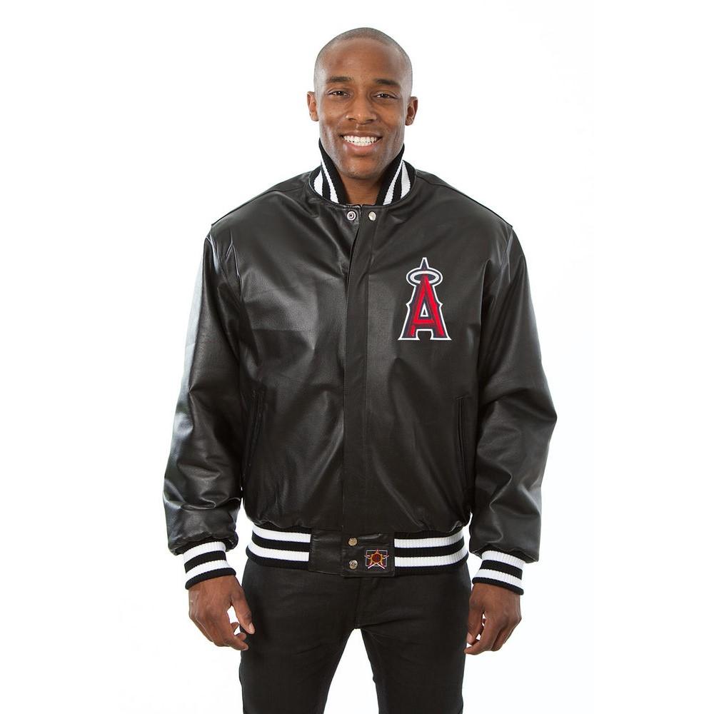 JH デザイン JH Design メンズ アウター レザージャケット【Los Angeles Angels of Anaheim Adult Leather Jacket】Black