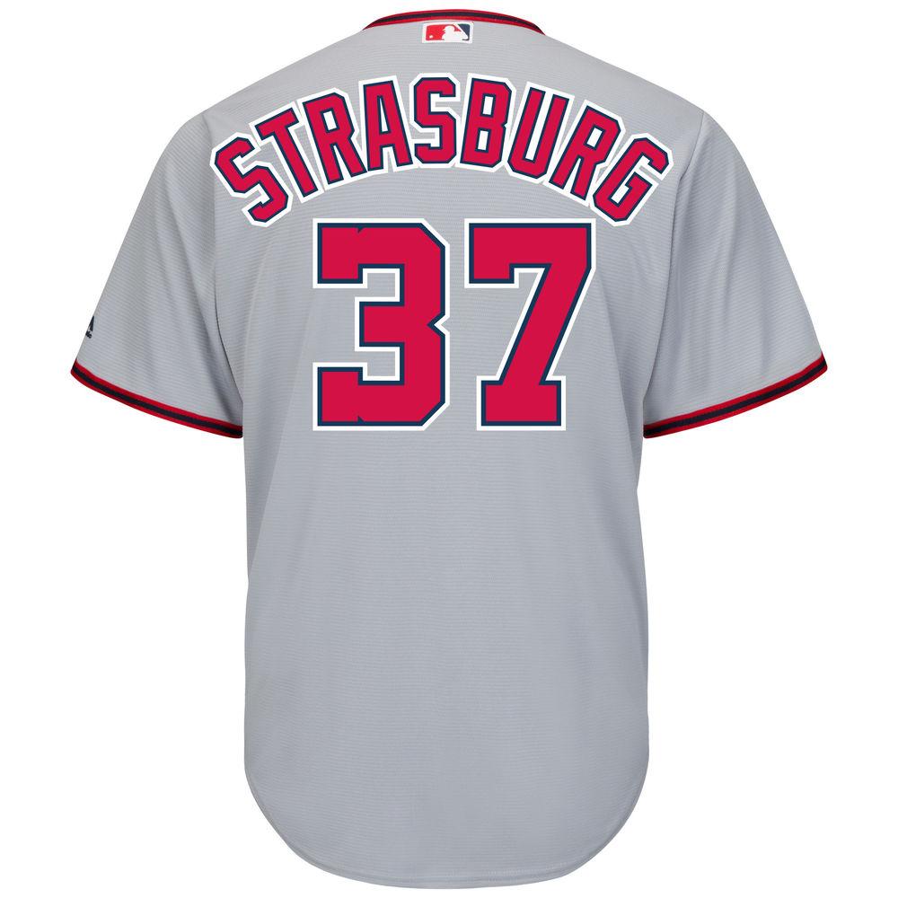 マジェスティック Majestic メンズ トップス【Washington Nationals Stephen Strasburg Adult Cool Base Replica Jersey】Grey