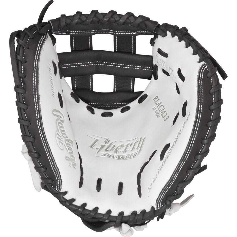 ローリングス Rawlings ユニセックス 野球 グローブ【Liberty Advanced 33 Inch Right Hand Throw Catchers Mitt】White/Black