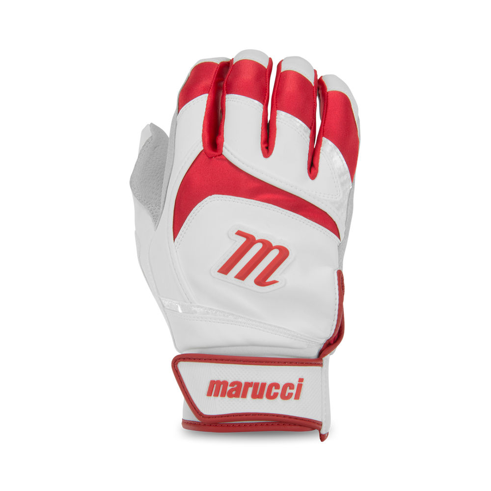 マルッチ Marucci ユニセックス 野球 グローブ【Adult Signature Series Baseball Batting Gloves】White/Red