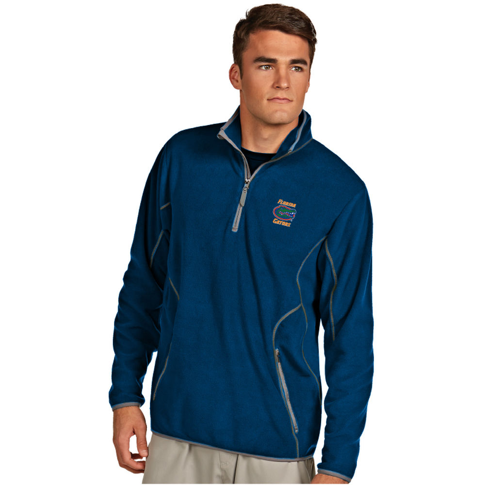 アンティグア Antigua メンズ トップス フリース【Florida Gators Ice Quarter Zip Polar Fleece】Navy/Light blue