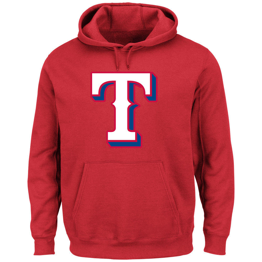 マジェスティック Majestic メンズ トップス パーカー【Texas Rangers Adult Scoring Position Hoodie】Red