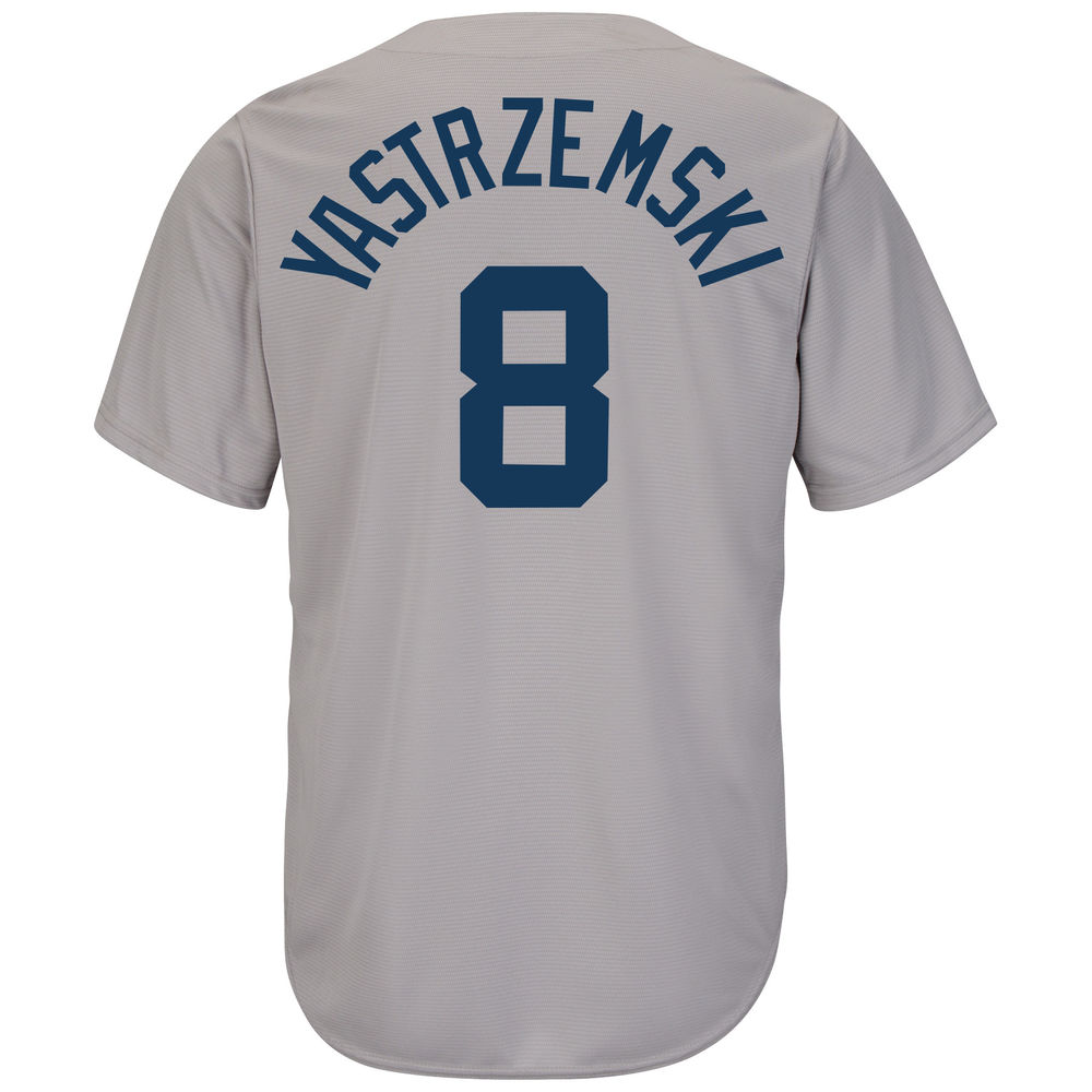 マジェスティック Majestic メンズ トップス【Boston Red Sox Adult Carl Yastrzemski Cooperstown Collection Jersey】Open Miscellaneous