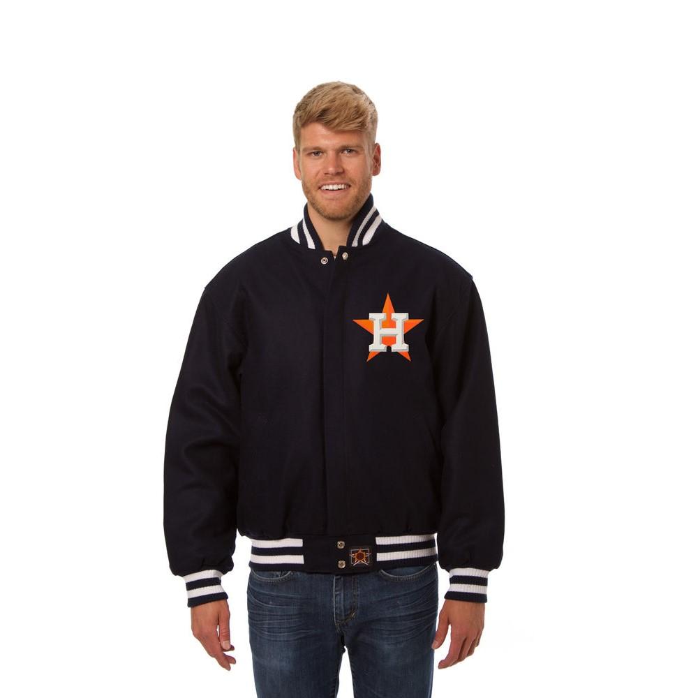 JH デザイン JH Design メンズ アウター ジャケット【Houston Astros Adult Wool Jacket】Navy