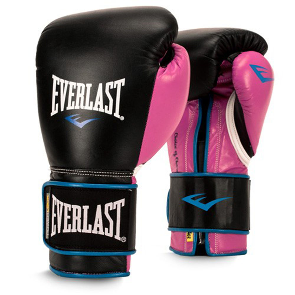 エバーラスト Everlast レディース グローブ【12 Ounce Powerlock Boxing Gloves】Black/Pink