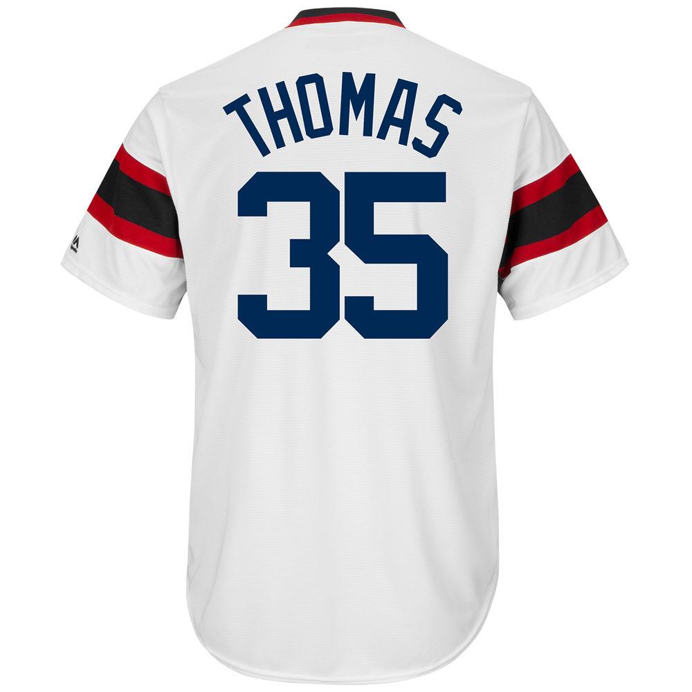 マジェスティック Majestic メンズ トップス【Chicago White Sox Adult Frank Thomas Cooperstown Collection Cool Base Jersey】White