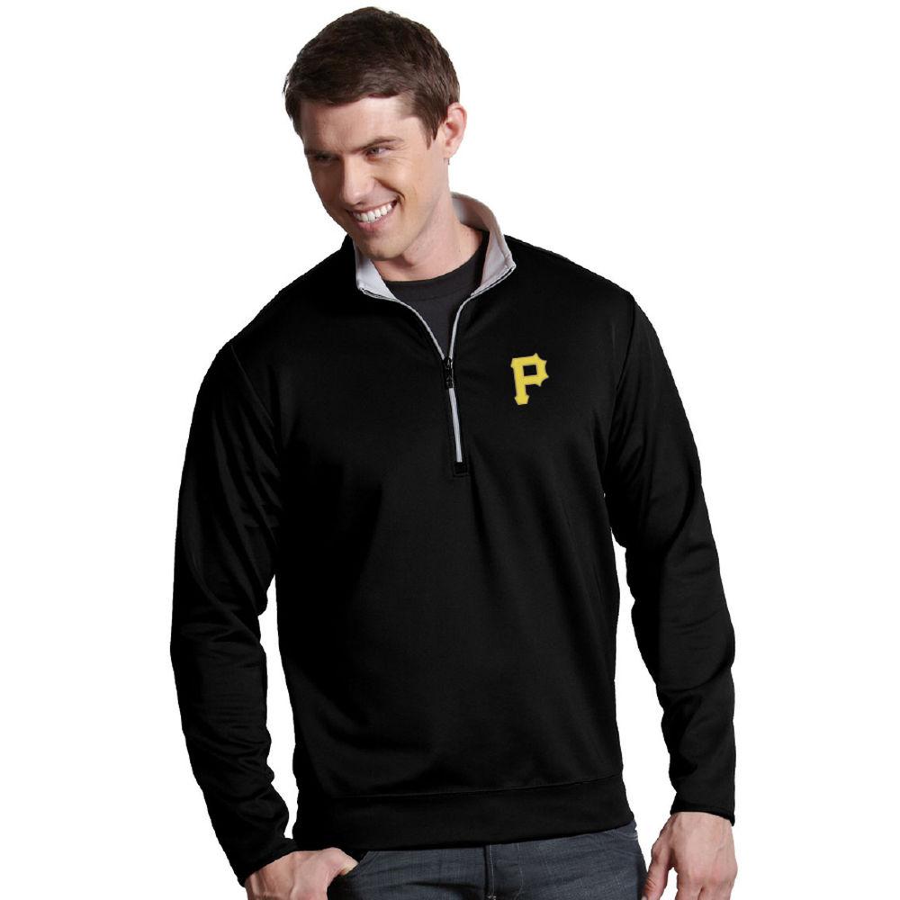 アンティグア Antigua メンズ トップス【Pittsburgh Pirates Adult Leader Pullover Heavy Interlock Quarter Zip Pullover】Black Silver